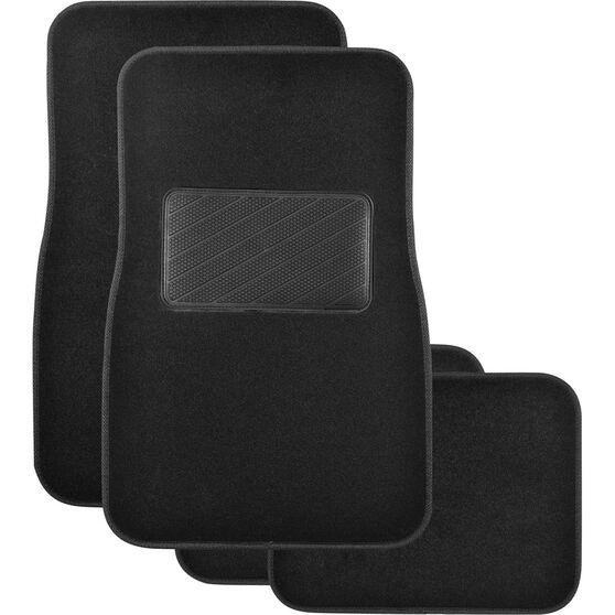 SCA Premier Plus Floor Mats - Carpet, Black, Set of 4, , scaau_hi-res