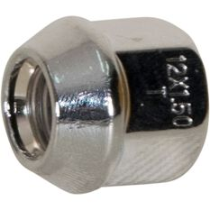 Wheel Nuts, Tapered Open End, Chrome - 12X1.5MM, , scaau_hi-res