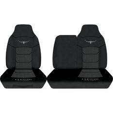 R.M.Williams Woven Ute Seat Cover - Black, Size 304, Front Bucket and 3/4 Bench (w/out cut out), , scaau_hi-res