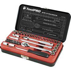 "ToolPRO Socket Set 1/4"" Drive Metric/SAE 48 Piece, , scaau_hi-res"