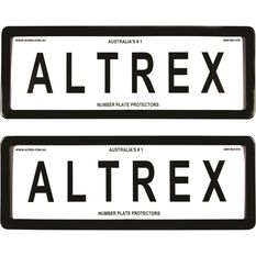 Altrex Number Plate Protector - 6 Figure, Standard, Clear, 6ST, , scaau_hi-res