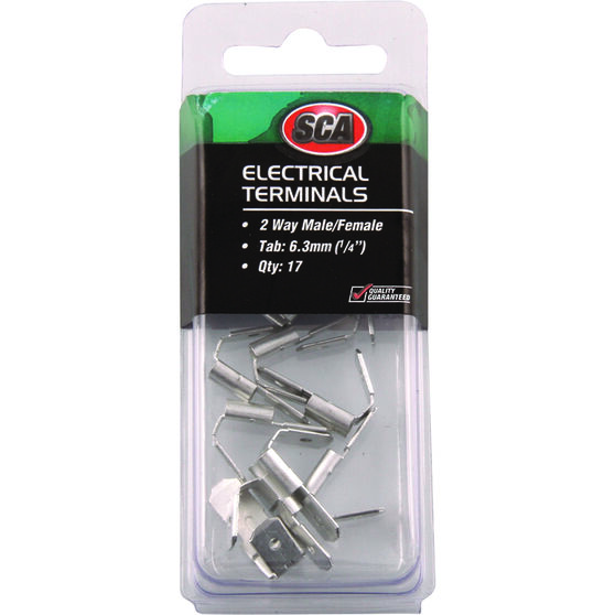 SCA Electrical Terminals - 2 Way Male / Female, 17 Pack, , scaau_hi-res