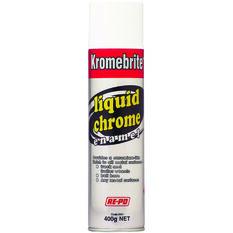 Re-Po Kromebrite Aerosol Paint, Enamel - Liquid Chrome, 400g, , scaau_hi-res
