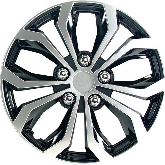 Street Series Wheel Covers Venom 13 Inch Black/Silver 4 Pack, , scaau_hi-res