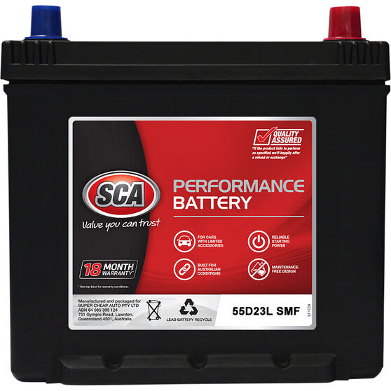 SCA Performance Car Battery S55D23L MF, , scaau_hi-res