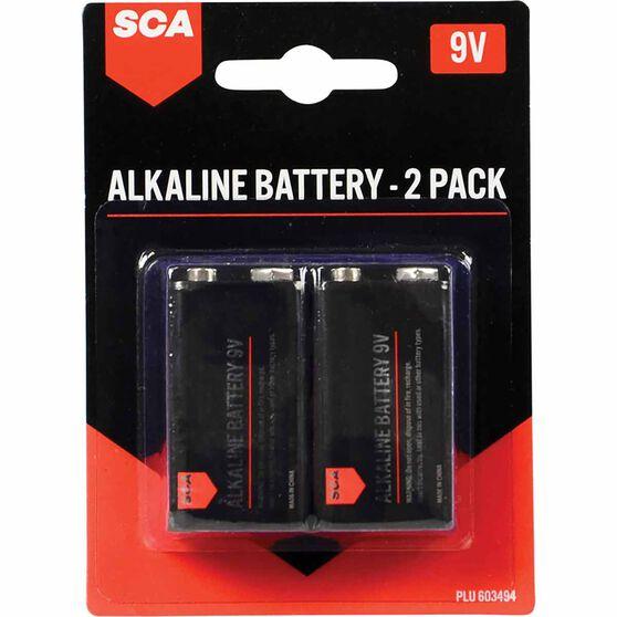 SCA Alkaline 9V Batteries 2 Pack, , scaau_hi-res