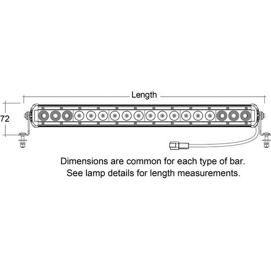 Big Red Driving Light Bar - 20 inch, 18  x  3W, LED, Single Combo, , scaau_hi-res