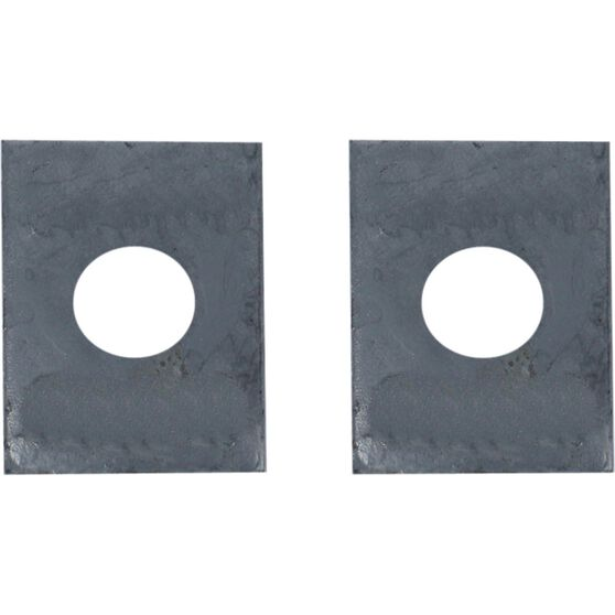 Trojan Axle Pads - 50mm x 50mm x 8mm, Galvanised, 2 Piece, , scaau_hi-res