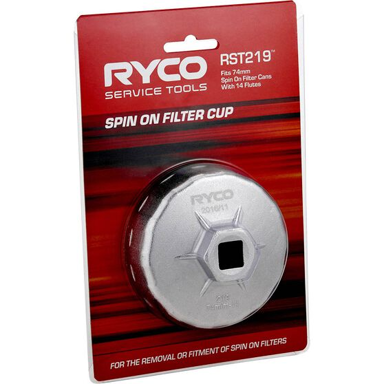 Ryco Oil Filter Cup Wrench  RST219, , scaau_hi-res