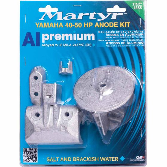 Martyr Alloy Outboard Anode Kit -CMY4050KITA, , scaau_hi-res