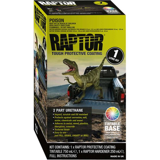 Raptor Bedliner 1L Tintable Kit, , scaau_hi-res