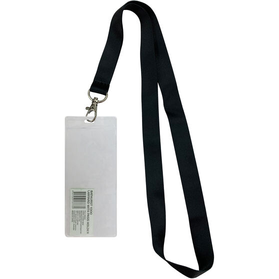 Bathurst Lanyard with Passholder - Black, , scaau_hi-res