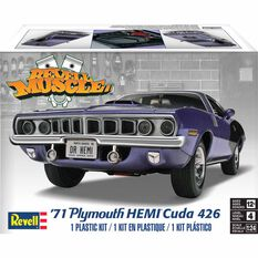 Revell '71 Plymouth Hemi Cuda 1:25 Scale Model Kit, , scaau_hi-res