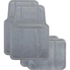Car Floor Mats - Rubber, Grey, Set of 4, , scaau_hi-res