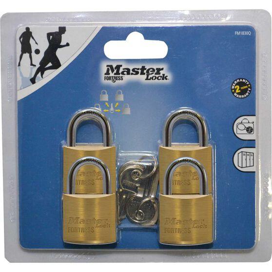 Master Lock Fortress Padlock - 30mm, 4 Pack, , scaau_hi-res