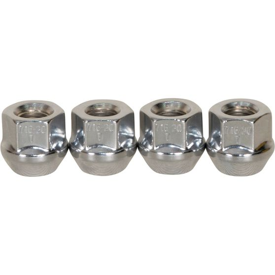 Calibre Wheel Nuts, Tapered Open End, Chrome - OEN716, 7 / 16inch, , scaau_hi-res