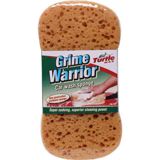 Turtle Wax Grime Warrior Car Wash Sponge, , scaau_hi-res