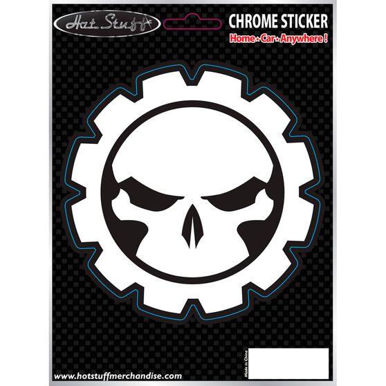 Hot Stuff Sticker - Gear Skull, Chrome, , scaau_hi-res