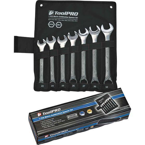 ToolPRO Spanner Set - Jumbo, Combination, 7 Piece, Metric, , scaau_hi-res