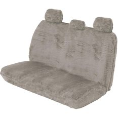 SCA Comfort Fur Seat Cover - Grey, Adjustable Headrests, Size 06H, Rear Seat, , scaau_hi-res