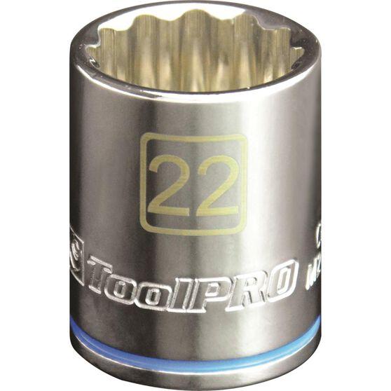 "ToolPRO Single Socket - 1/2"" Drive, 22mm, , scaau_hi-res"
