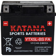 Katana Powersports Small Engine Battery YTX5L-BS FA, , scaau_hi-res