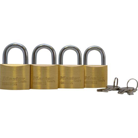 Master Lock Fortress Padlock - 40mm, 4 Pack, , scaau_hi-res