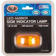SCA Side Marker - LED, Amber, 10-30V, , scaau_hi-res