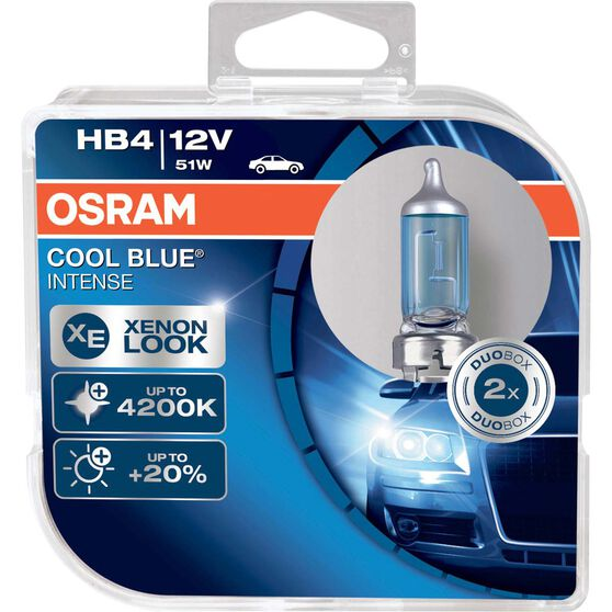 Osram Intense Headlight Globe - 12V, 51W, Cool Blue, HB4, , scaau_hi-res