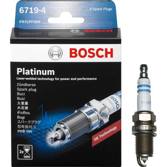 Bosch Platinum Spark Plug - 6719-4, 4 Pack, , scaau_hi-res