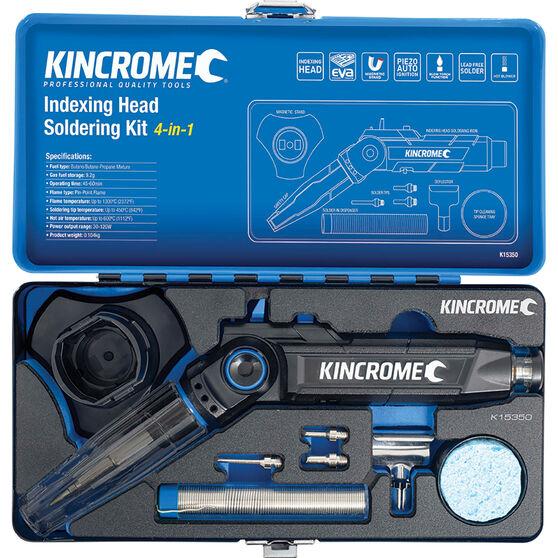 Kincrome 4-in-1 Indexing Head Butane Soldering Iron Kit, , scaau_hi-res