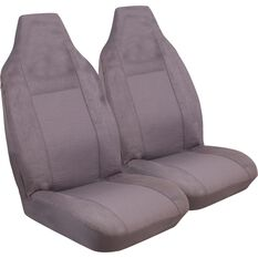 Imperial Seat Covers - Charcoal, Front Pair, Built-In Headrests, Size 60, , scaau_hi-res