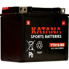 Powersports Battery -  YTX12-BS, , scaau_hi-res