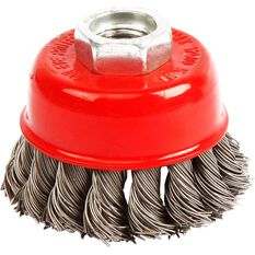 ToolPRO Wire Cup Brush - 65mm, Twist Knot, , scaau_hi-res