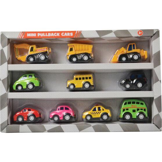 Pull back Alloy mini vehicles - 10 pack, , scaau_hi-res
