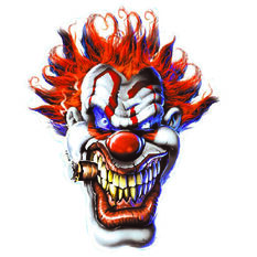 Hot Stuff Sticker - Clown Face, Vinyl, , scaau_hi-res