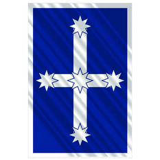 Hot Stuff Sticker - Eureka Flag, Chrome, , scaau_hi-res