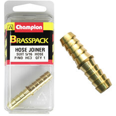 Champion Hose Joiner - 5 / 16inch, Brass, , scaau_hi-res
