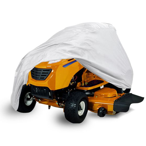 CoverALL Mower Cover Silver Protection - Water Resistant, Suits Large Ride On Mower, , scaau_hi-res