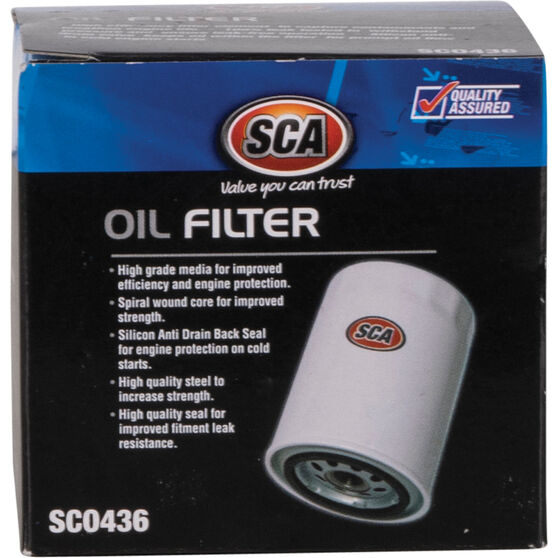 SCA Oil Filter - SCO436 (Interchangeable with Z436), , scaau_hi-res