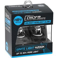 Calibre Headlight Globe HB4 12V 51W White Light, , scaau_hi-res