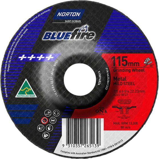 Norton Grinding Disc Metal 115mm x 6mm x 22mm, , scaau_hi-res