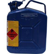 Metal Jerry Can - Chain & Bar Oil, 5 Litre, Blue, , scaau_hi-res