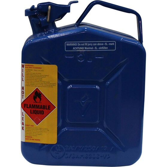 Pro Quip Metal Chain and Bar Oil Jerry Can - Blue, 5 Litre, , scaau_hi-res