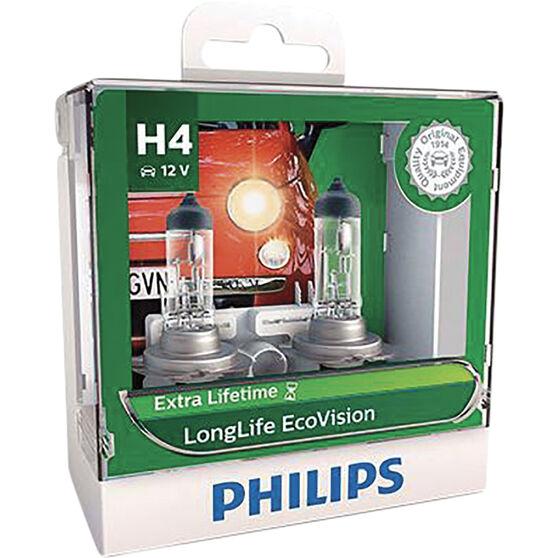 Philips EcoVision Headlight Globes - 60/55W, H4, , scaau_hi-res