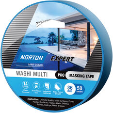 Norton Expert 14 Day Masking Tape - 36mm x 50m, , scaau_hi-res
