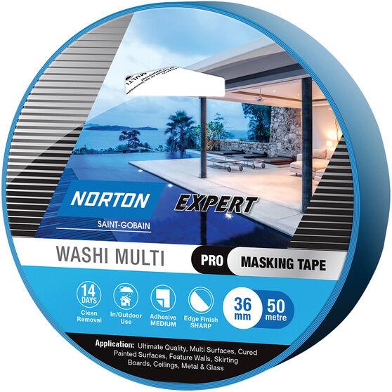 Norton Expert 14 Day Masking Tape - 36mm x 50m, , scaau_hi-res