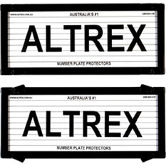 Altrex Number Plate Protector - 5 Figure, With Lines, , scaau_hi-res