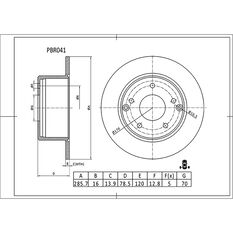 Bosch Disc Brake Rotor PBR041, , scaau_hi-res