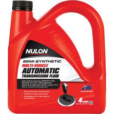 Nulon ATF Multi Vehicle Semi Synthetic Automatic Transmission Fluid 4 Litre, , scaau_hi-res